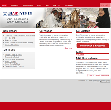 USAID Yemen Monitoring & Evaluation Project (YMEP)