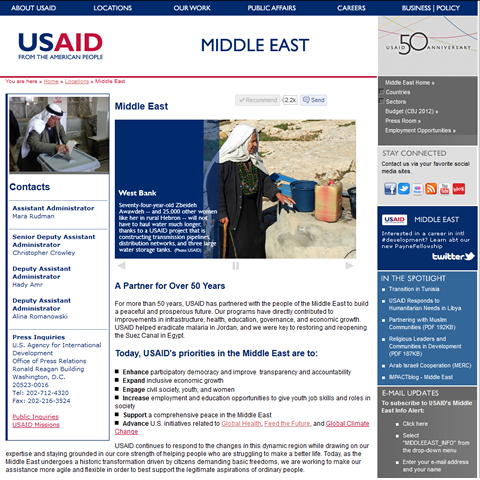 USAID Office of Middle East Website