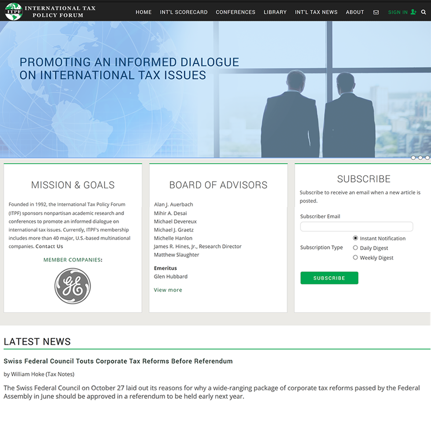 International Tax Policy Forum