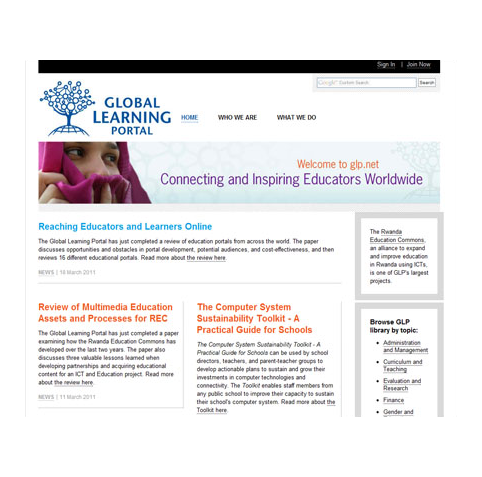 Global Learning Portal, Academy for Educational Development