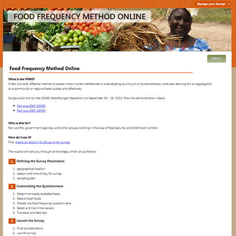 Food Frequency Method Online
